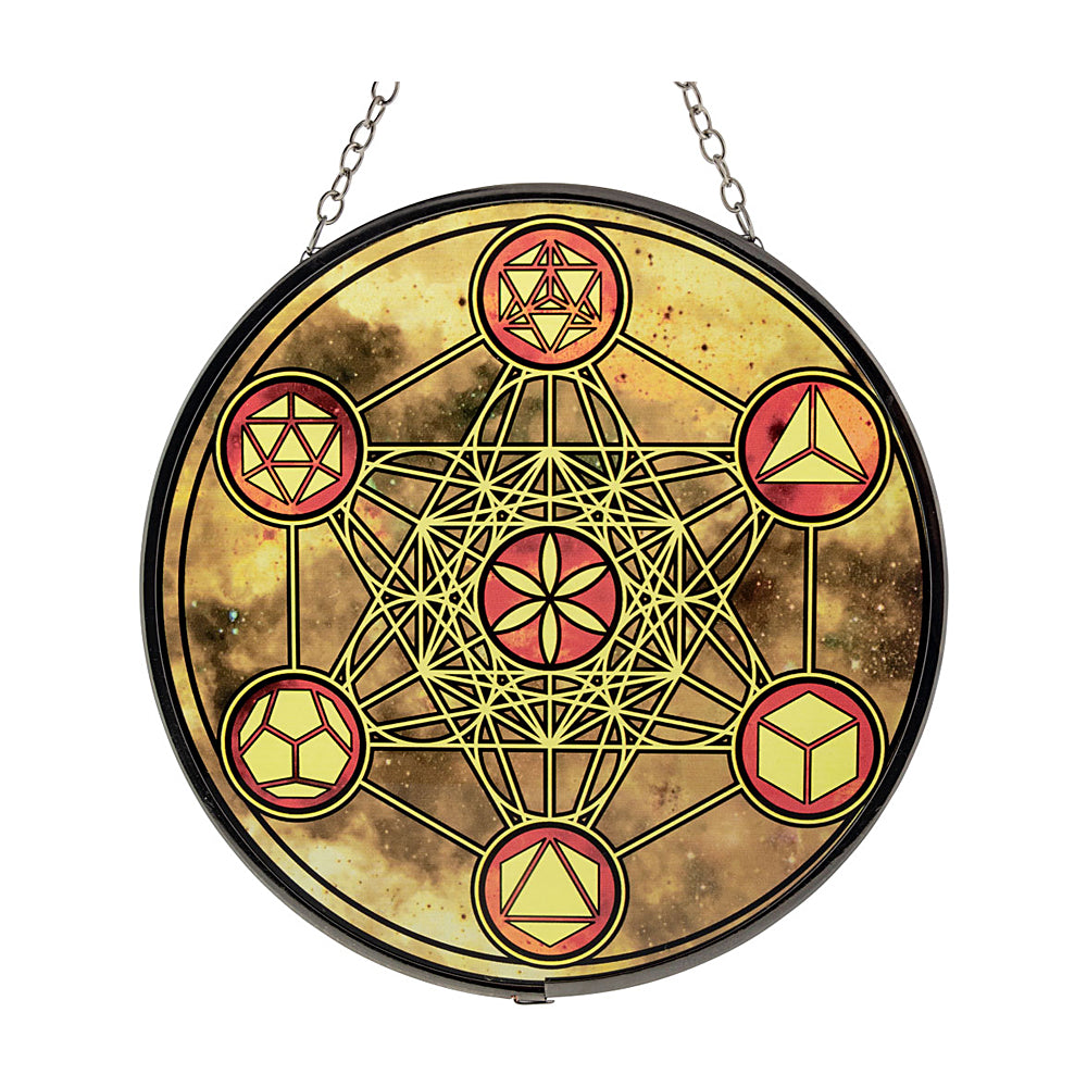Metatron Glass Suncatcher