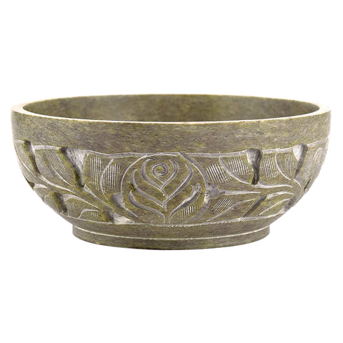 Natural Stone Carved Smudge Bowl