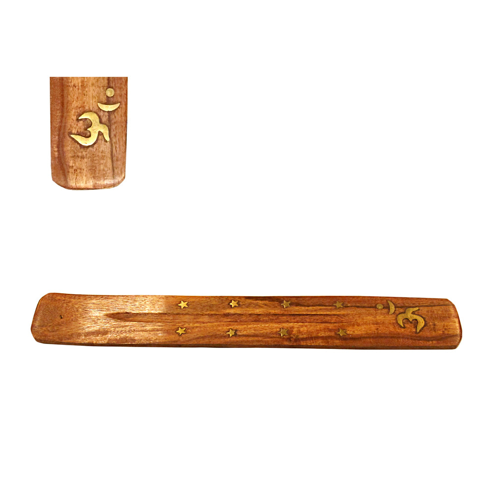 Om Wood Incense Boat Burner