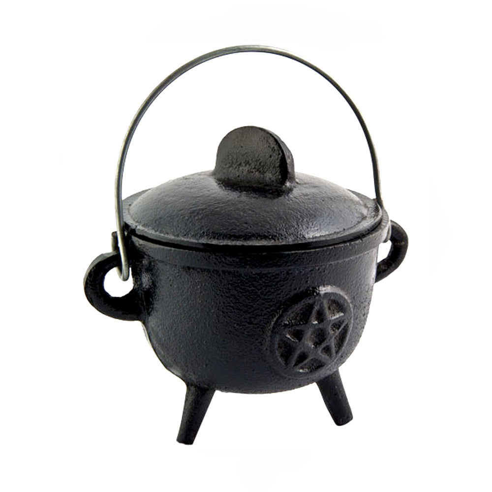 Cast Iron Cauldron - Pentacle
