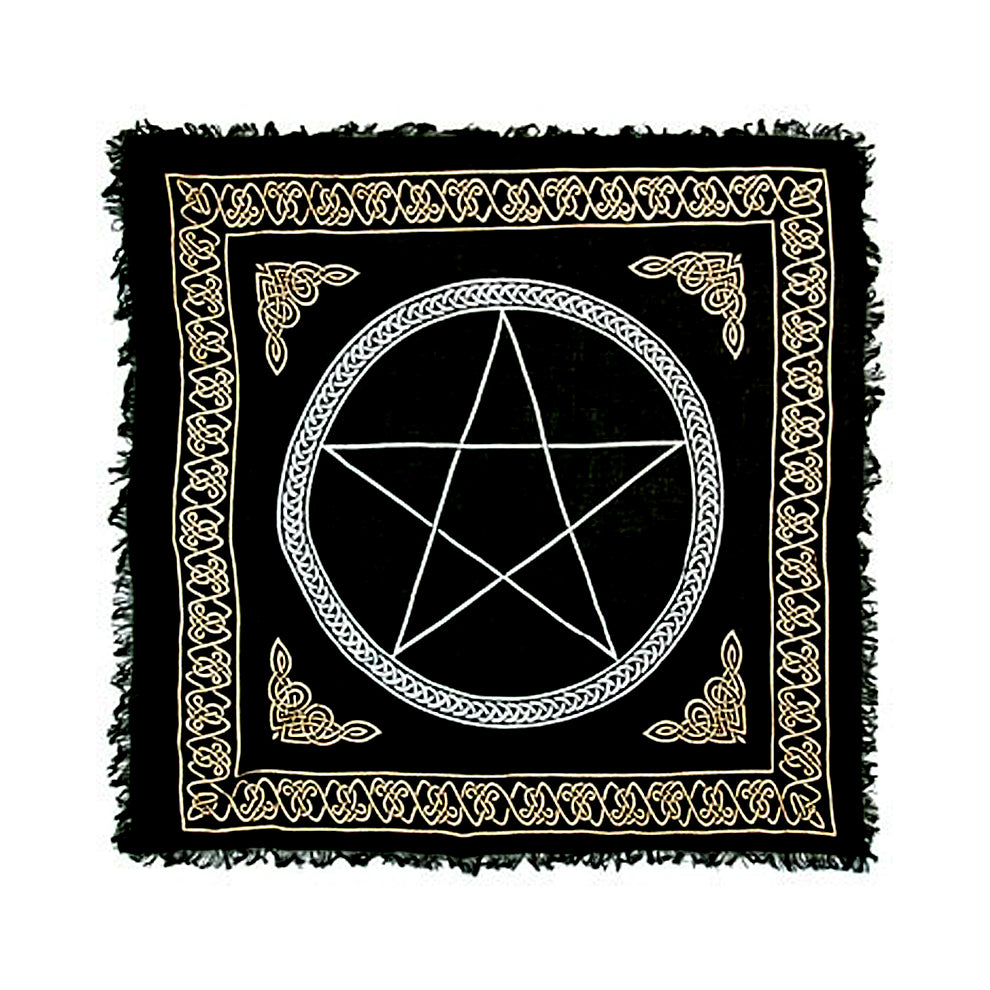 "Pentacle Gold and Silver Altar Cloth 36"" x 36"""