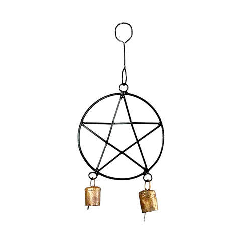Black Pentacle Wind Chime
