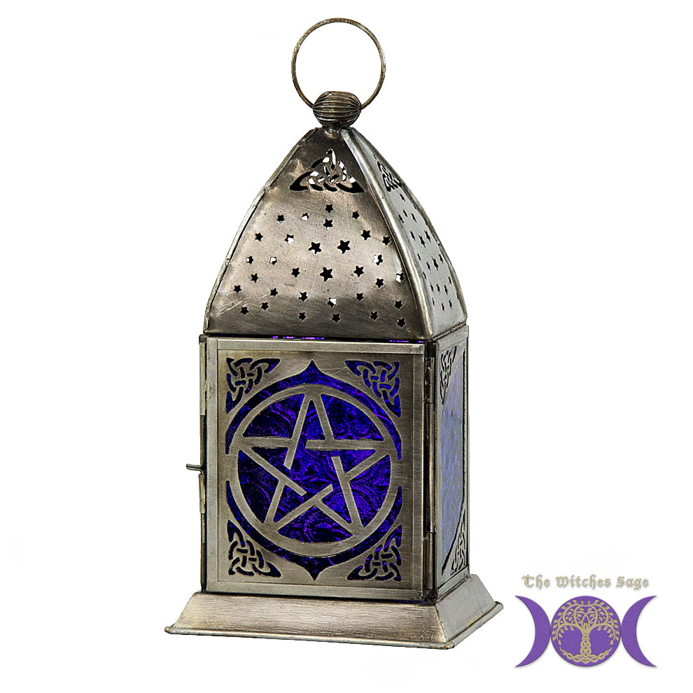 Pentacle Glass & Metal Lantern