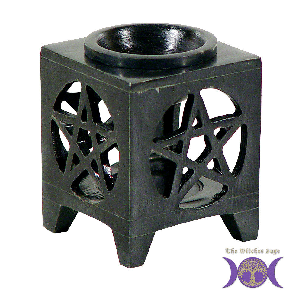 Soapstone Pentacle Oil diffuser - Black