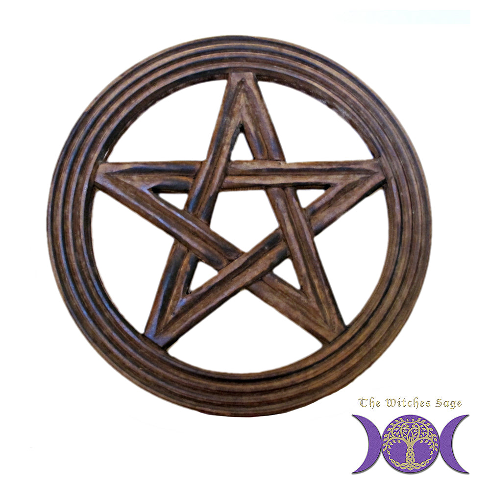 Pentacle Wood Wall Plaque