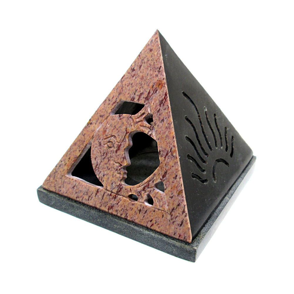 Sun & Moon Pyramid Cone Burner