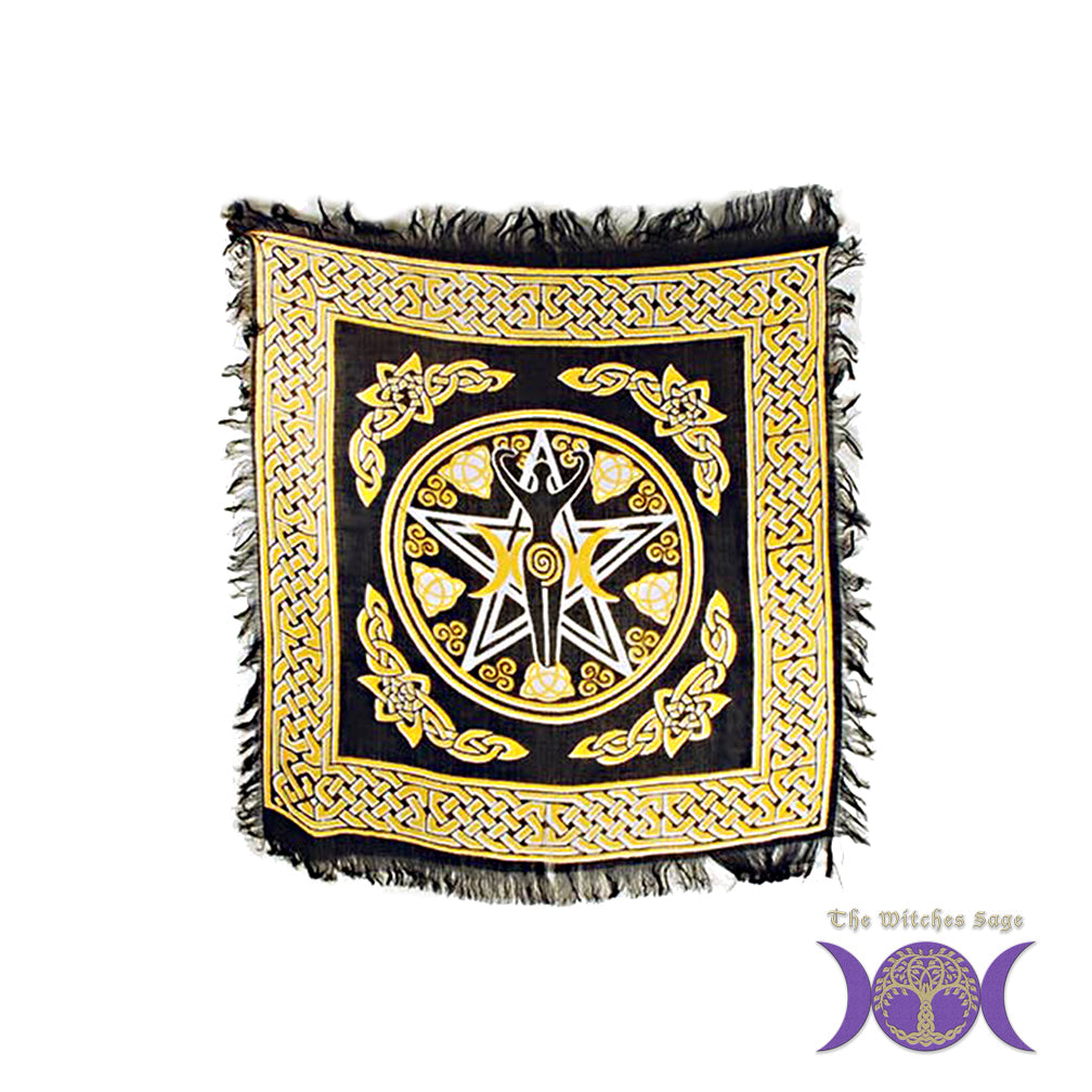 "Pentacle Goddess Altar Cloth 18"" x 18"""