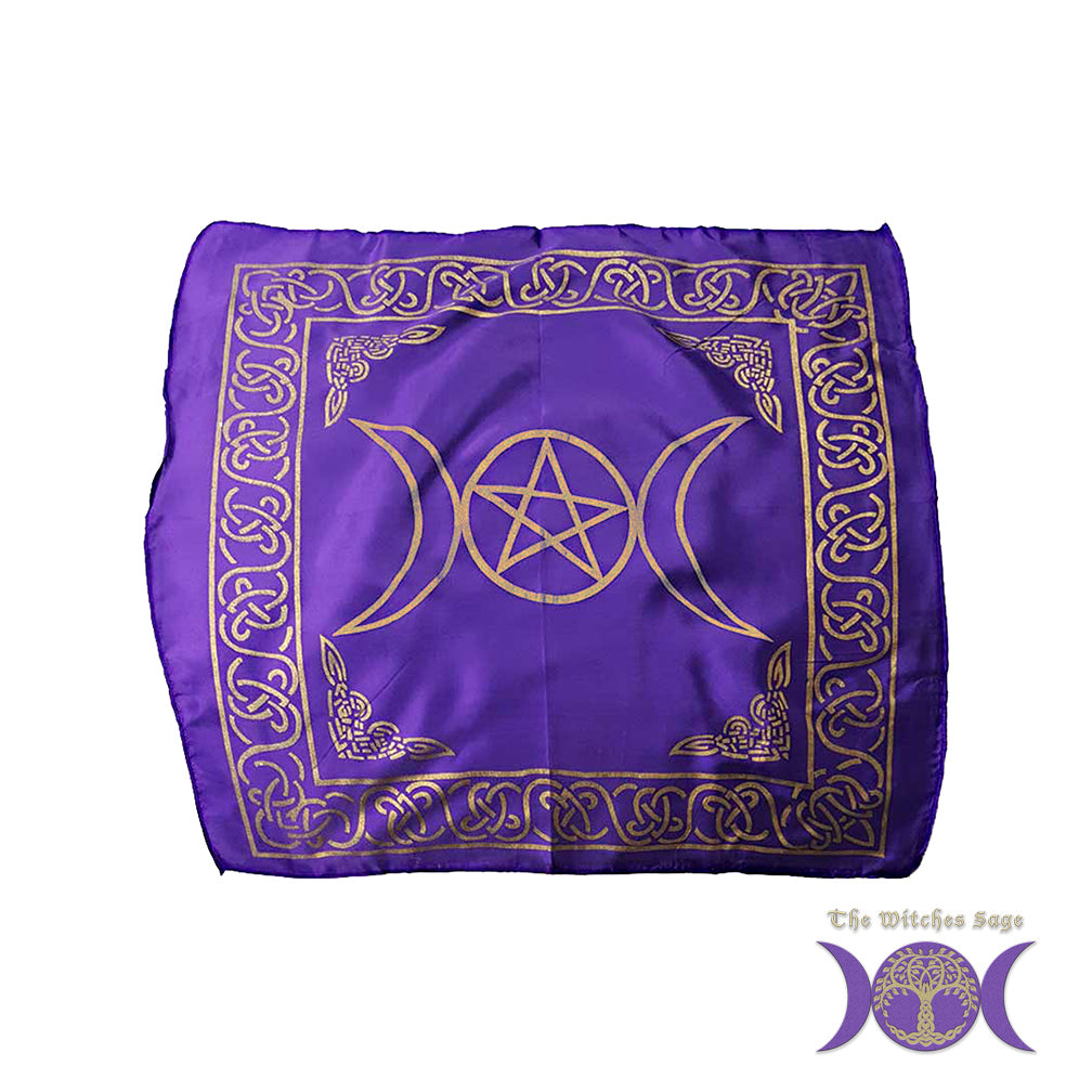 "Triple Moon Pentagram Altar Cloth 21"" x 21"""