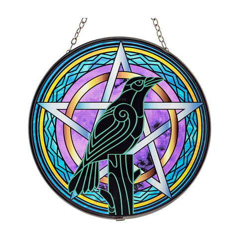 Raven Glass Suncatcher