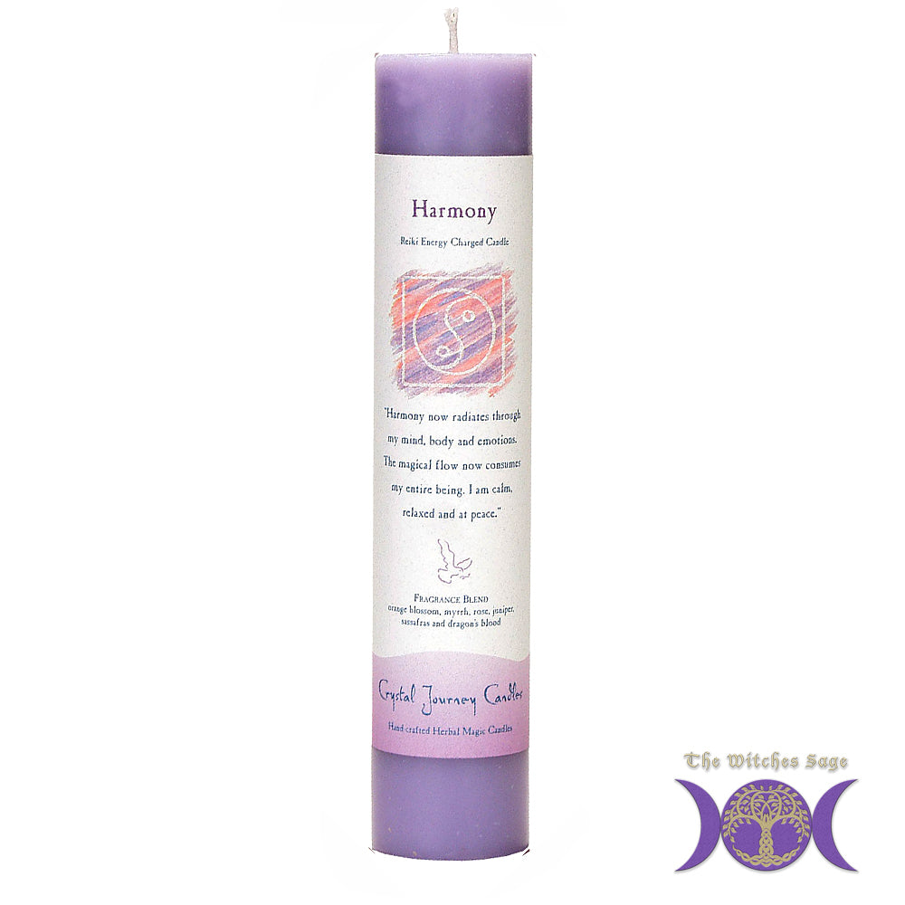 Reiki Herbal Pillar Candle Harmony