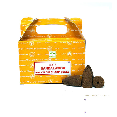 Satya Sandalwood Dhoop Backflow Cones