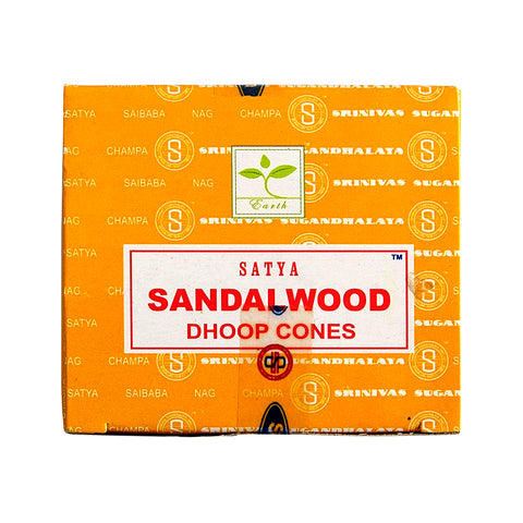 Satya Sandalwood Dhoop Incense Cones