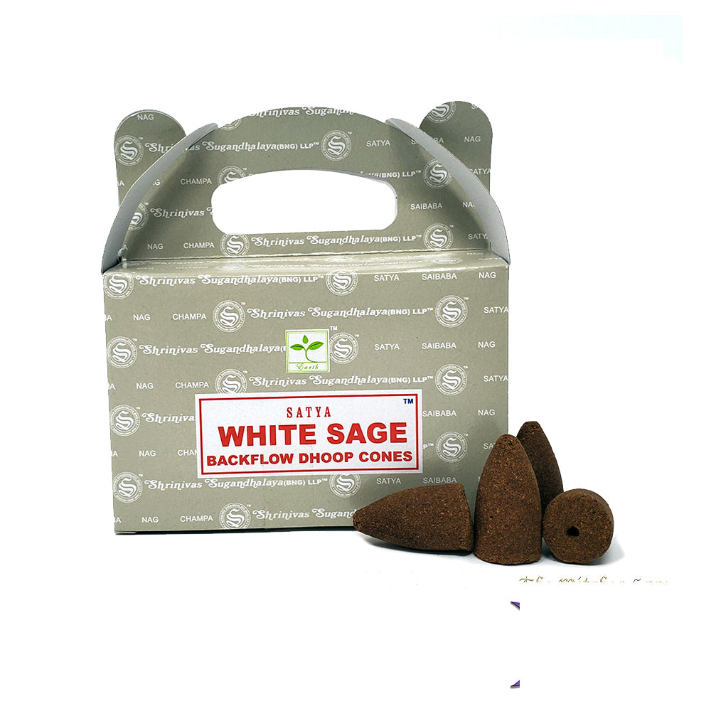 Satya White Sage Dhoop Backflow Cones