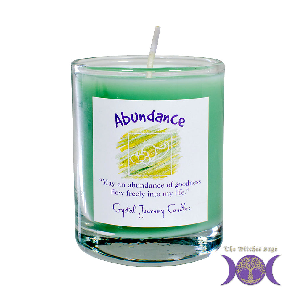 Soy Herbal Filled Votive - Abundance