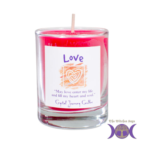 Soy Herbal Filled Votive Candle - Love