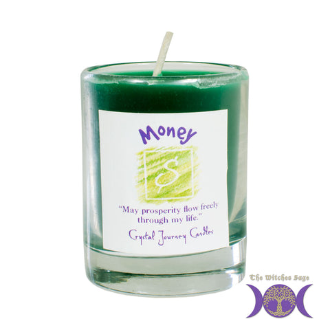 Soy Herbal Filled Votive Candle - Money