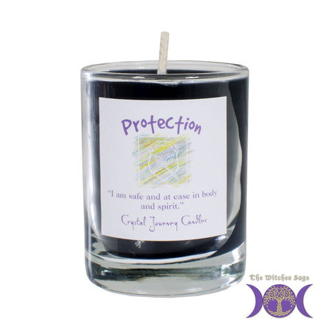Soy Herbal Filled Votive Candle - Protection