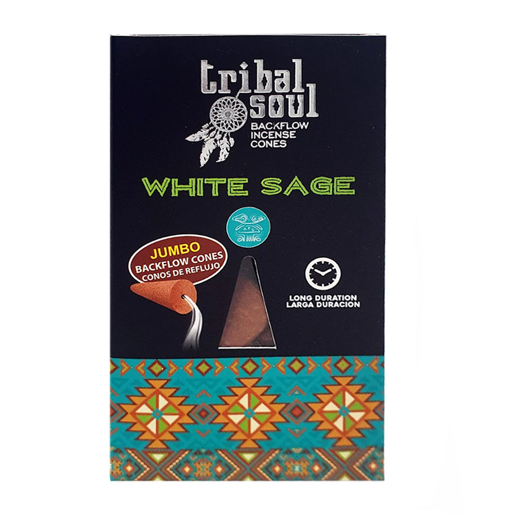 Tribal Soul White Sage Backflow Cones