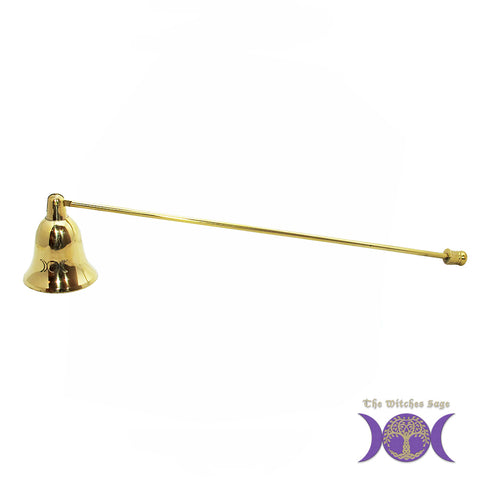 Triple Moon Brass Candle Snuffer 11""