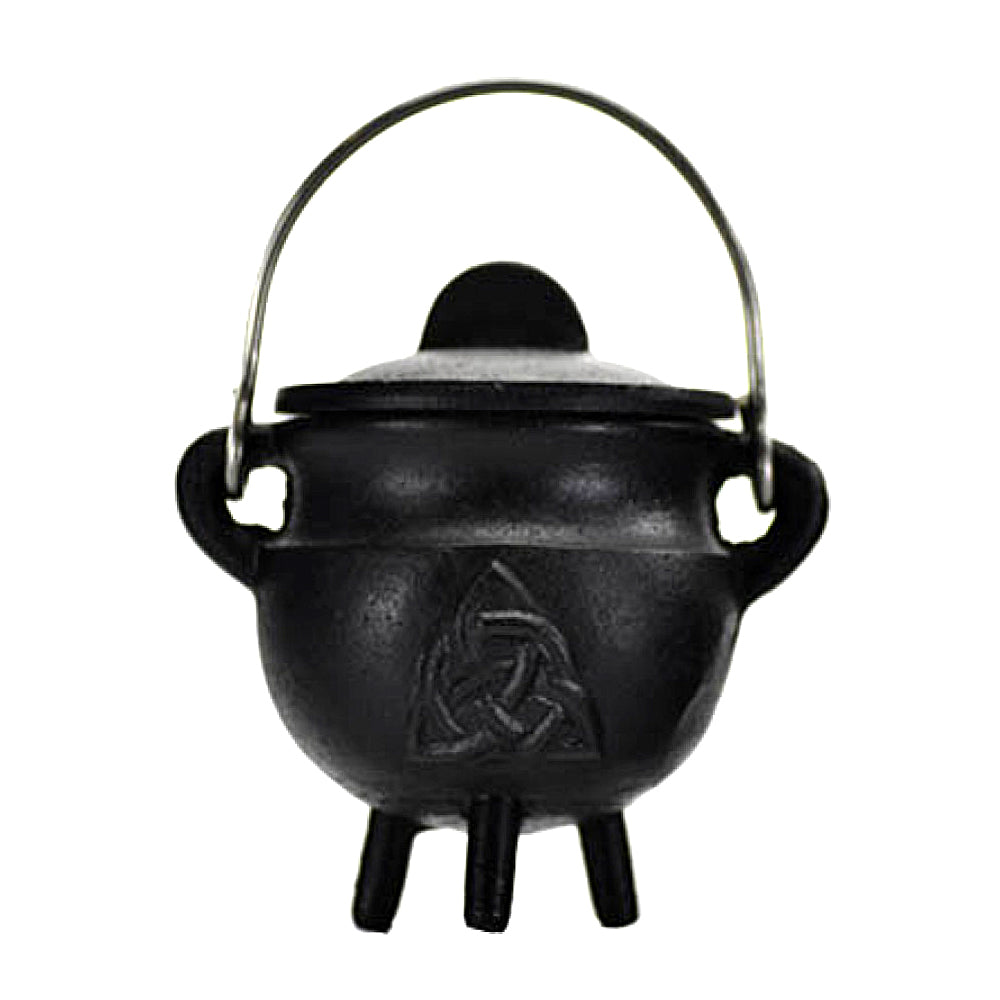 Triquetra Cast Iron Cauldron with Lid