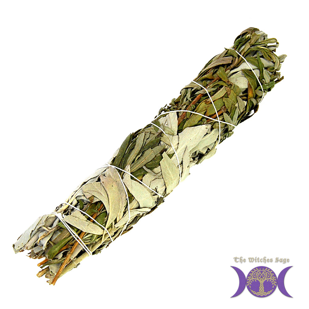 White Sage & Lavender Smudge Stick 7-8""