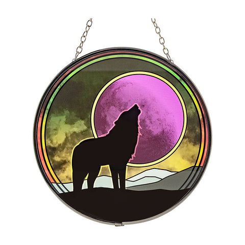 Wolf Glass Suncatcher