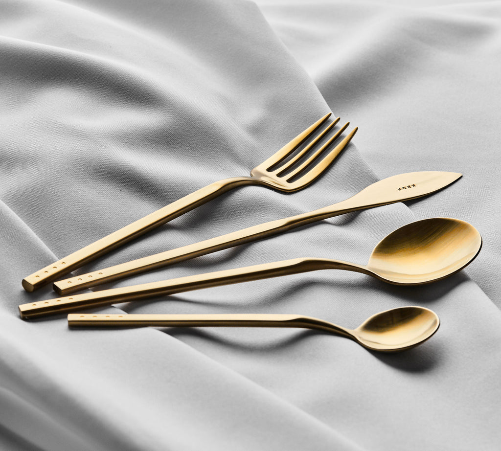 Brushed Gold — 24pc Cutlery Set  — PREORDER NOW // STOCK ARRIVING MID FEBRUARY 2021