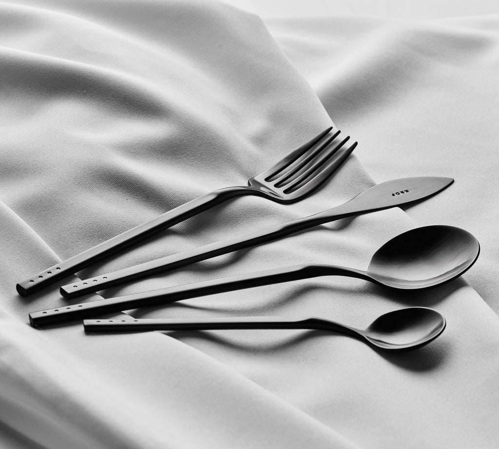 Matte Black — 24pc Cutlery Set