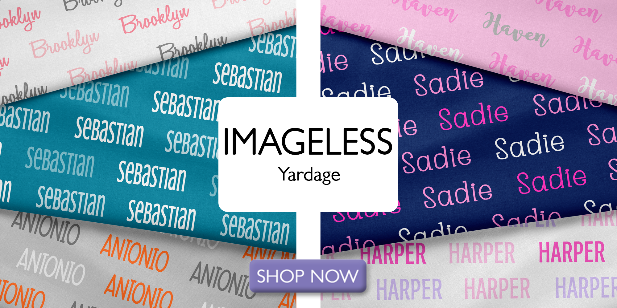 Horizontal Personalized Name Fabric