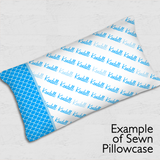 Diagonal Pillowcase Panel - Script