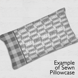 Stacked Pillowcase Panel - Modern Bold Upper