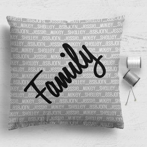 Family Cushion Panel - Family