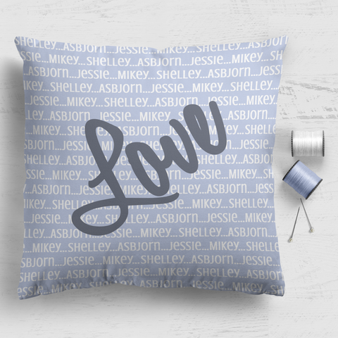 Family Cushion Panel - Love