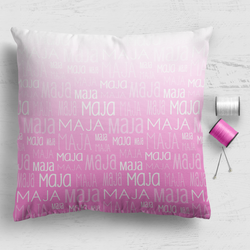 "Cushion Panel - Ombre Typographic Print 18""x18"""