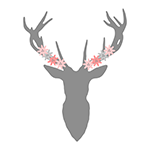 Stag Head Floral