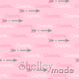 ShelleyMade Personalised Name Design Fabric Arrow Design