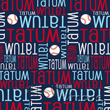 ShelleyMade Personalised Name Design Fabric Nested Image - Baseball