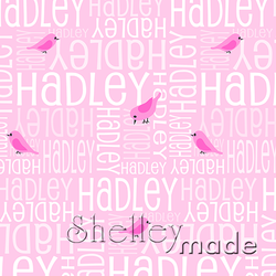 ShelleyMade Personalised Name Design Fabric Nested Image - Bird