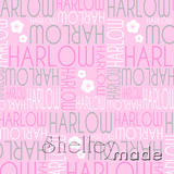 ShelleyMade Personalised Name Design Fabric Nested Image - Blossom