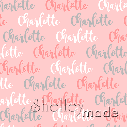 ShelleyMade Personalised Name Design Fabric Brush