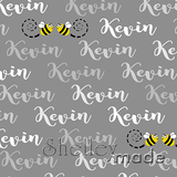 ShelleyMade Personalised Name Design Fabric Brush Image - Bee