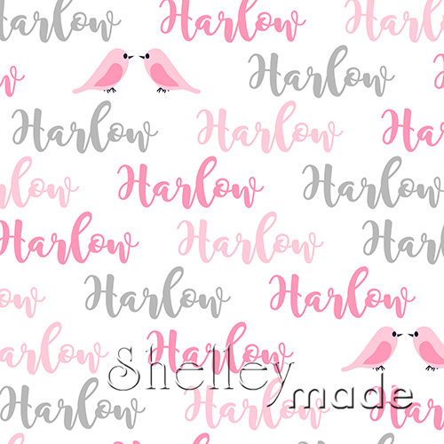 ShelleyMade Personalised Name Design Fabric Brush Image - Bird