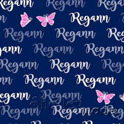 ShelleyMade Personalised Name Design Fabric Brush Image - Butterfly