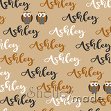 ShelleyMade Personalised Name Design Fabric Brush Image - Owl Spot