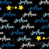 ShelleyMade Personalised Name Design Fabric Brush Image - Stars