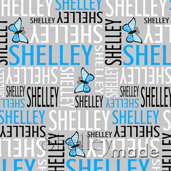 ShelleyMade Personalised Name Design Fabric Nested Image - Butterfly