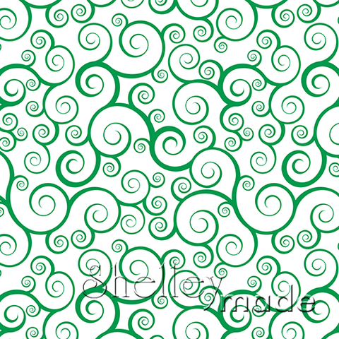 Christmas Coordinate - Swirl Green Reverse
