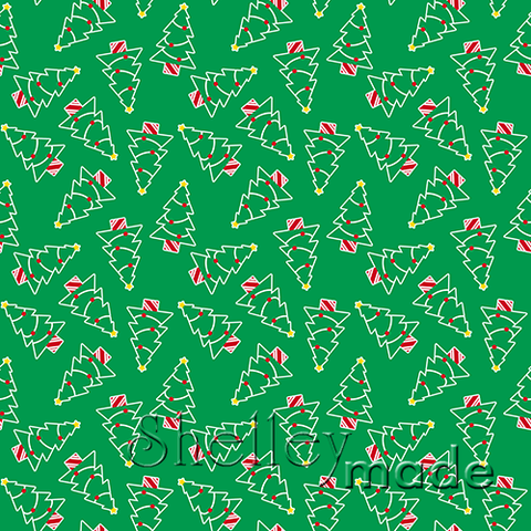 Christmas Coordinate - Tree Scattered Green