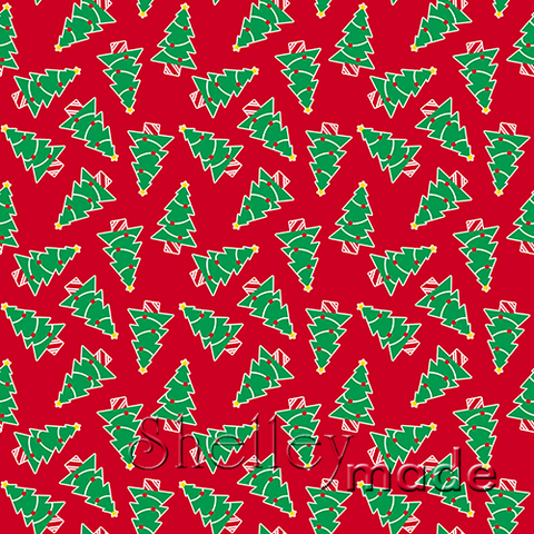 Christmas Coordinate - Tree Scattered Red