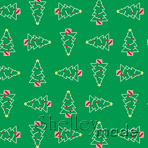 Christmas Coordinate - Tree Structured Green